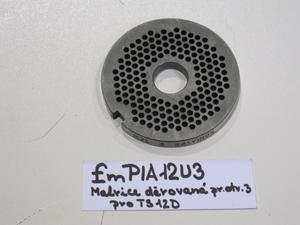 Matrice děrovaná pr.otv.3 pro TS12D