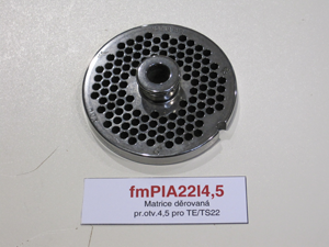 Matrice děrovaná pr.otv.4,5 pro TE/TS22