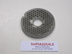 Matrice děrovaná pr.otv.4,5 pro TE/TS22D