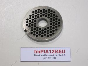 Matrice děrovaná pr.otv.4,5 pro TS12D