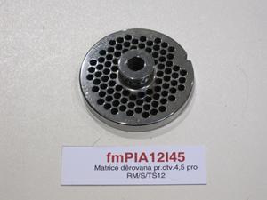 Matrice děrovaná pr.otv.4,5pro RM/S/TS12