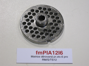 Matrice děrovaná pr.otv.6 pro RM/S/TS12