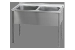 MSD-140x60x90(60x50x32)Stůl mycí dvoudř.