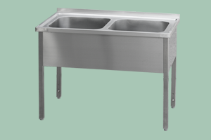 MSD-140x70x90(60x50x32)N Stůl mycí dvoudř.