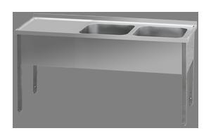MSDOL-160x60x90/2x50x40 Stůl odk.pl.levá
