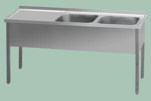 MSDOL-210x70x90/2x60x50 Stůl odk.pl.levá