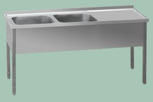 MSDOP-140x70x90/40x50 Stůl dvoudřez prav