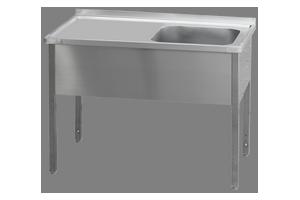 MSJOL-120x60x90/50x40 Stůl dřez, odkap.pl.vlevo