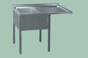 MSJOP/M-140x70x90/50x40 Stůl dřez, odkap.pl.vpravo