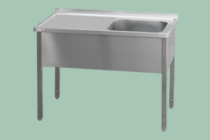 MSJOP-120x70x90/50x40 Stůl dřez, odkap.pl.vpravo