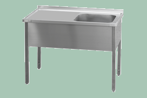 MSJOP-140x60x90/50x40 Stůl dřez, odkap.pl.vpravo