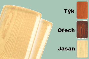 Podnos lamino s úchopy 34,5x24 barva dřeva protiskluz