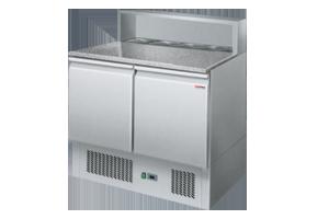 SP 902 - Stůl chladicí el. GN 1/1 2 dveře pizza 230 V