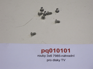 Šrouby 3x6 7985-náhradní pro disky TV