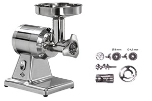 RM Gastro TS 12/D EM - Mlýnek na maso dvojsložení odnímatelná hlava 160 kg/h 230 V