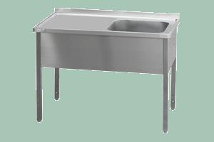 MSJOP-160x60x90/50x40 Stůl dřez, odkap.pl.vpravo