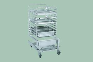VO-1221 Zavážecí vozík pro konvektomat 1221 (zelený)