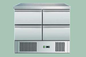 SZ-902 Stůl chladící čtyřzásuvkový 4x šuplík GN-1/1