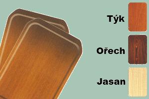 Podnos lamino se skosenými rohy 52,5x39 barva dřeva
