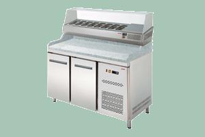 RTP-2D Pizzastůl s vitrínkou na GN-1/4