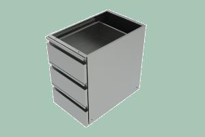 ZB-Zásuvkový blok (3x zásuvka) do prac. stolů PS
