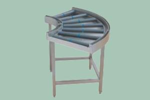 CT-168 Stůl 90° válečkový vstup. nebo výstupní, 110 x 110 cm