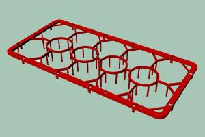 C-1412 Nástavec základní plastový na sklednice 14 pozic