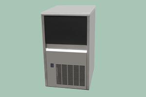 SS 35 W - Výrobník ledu chlazený vodou kostkový led 22 g 33 kg/24h