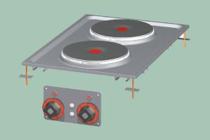 PCD-64ET Sporák stolní elektrický