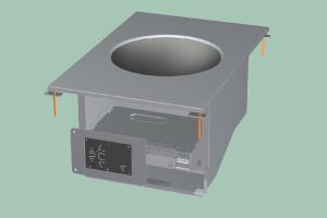PCIWD-64ETD Sporák stolní indukční WOK s digitálním ovládáním