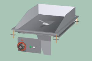 FTRD-64ETS Plotna grilovací rýhovaná chrom