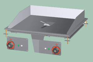 FTRD-66ETS Plotna grilovací rýhovaná chrom
