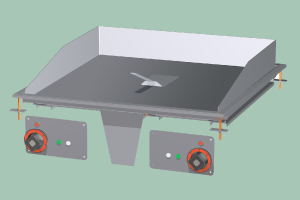 FTLRD-68ETS Plotna grilovací komb. Chrom
