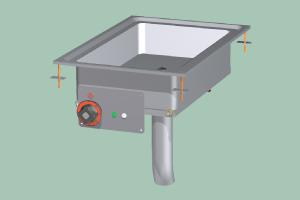 BRFD-64ET Pánev smažící multifunkční elektrická