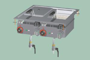F2/10D-66ET Fritéza dvojitá elektrická
