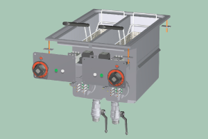 F2/8D-64ET Fritéza dvojitá elektrická