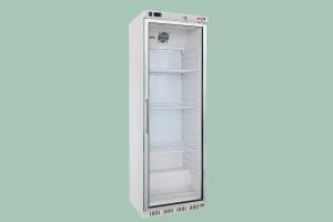 HR-200G Lednice bílá, prosklené dveře