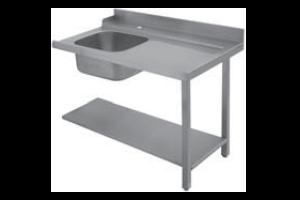 Stůl vstupní 160x75x85 levý s dřezem 40x50x25