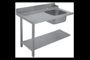 Stůl vstupní 140x75x85 pravý s dřezem 40x50x25