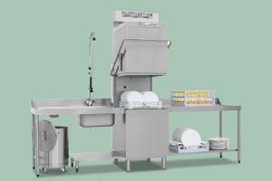 TTA-110 REC ABT Myčka se změkčovačem a rekuperací průběžná