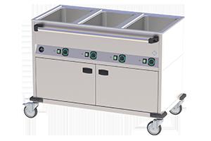 BMPD-3120 CSH Vodní lázeň opláštěná vyhřívaná 3xGN1/1 2900W