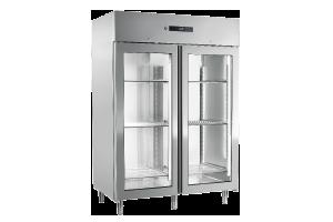 ENR 1400 G - Skříň chladicí 1400 l prosklená GN 2/1, nerez