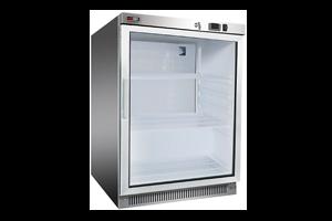 DR 200 GSS - Skříň chladicí 130 l prosklené dveře 2x rošt, nerez